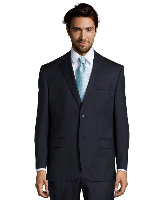 Palm Beach 100% Wool Navy Suit Jacket - Blue Lion Men's Apparel - 1