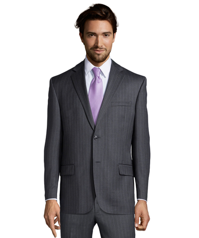 Palm Beach 100% Wool Grey Stripe Suit Jacket
