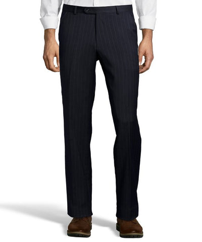 Palm Beach 100% Wool Navy Stripe Plain Front Suit Pant