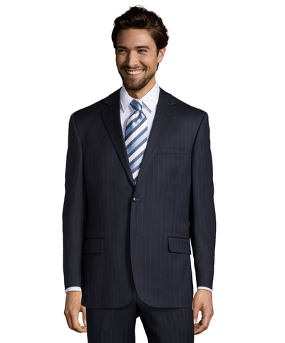 Palm Beach 100% Wool Navy Stripe Suit Jacket