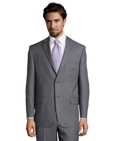Palm Beach 100% Wool Grey Sharkskin Suit Jacket