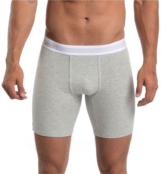 BIKER BRIEF - GREY HEATHER