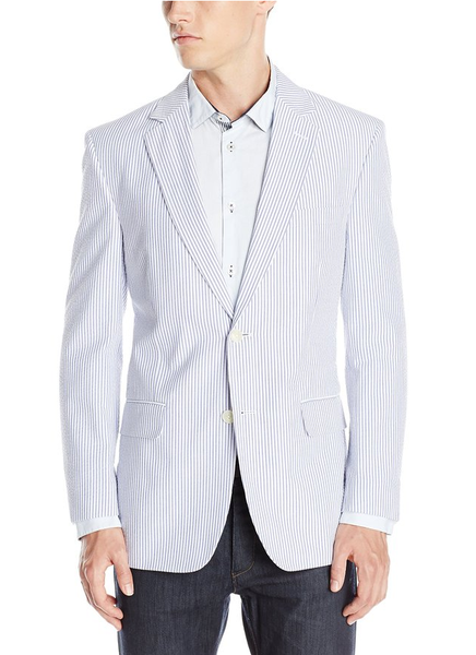 Palm Beach Brock Navy/White Seersucker Suit Separate Jacket