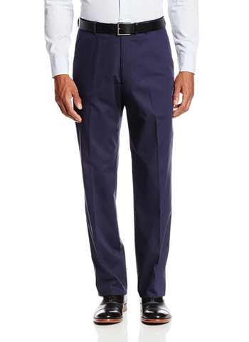 Palm Beach Oxford Carbon Blue Poplin Suit Separate Flat Front Pant