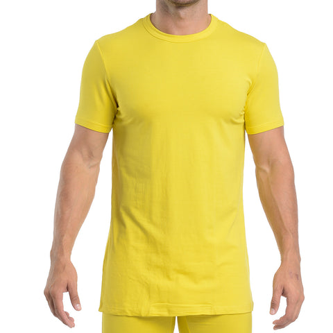 CREW NECK - BRIGHT YELLOW