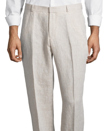 Palm Beach 'Original' Natural Linen Flat Front Pant