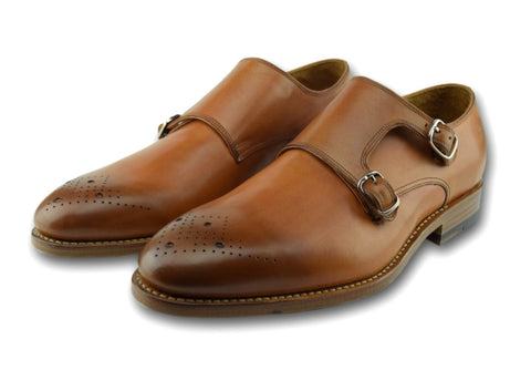 GREENVILLE DOUBLE MONK SADDLE TAN