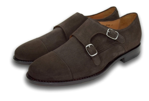 CHARLESTON DOUBLE MONK WELL BRED BROWN SUEDE