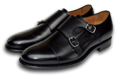 CHARLESTON DOUBLE MONK CHARCOAL BLACK