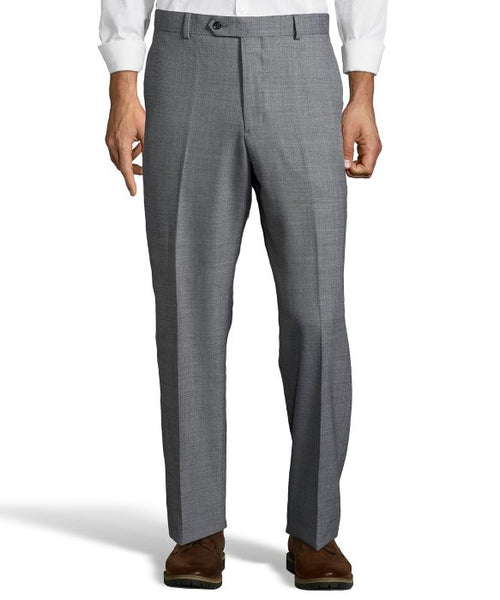 Palm Beach Chairman Grey Sharkskin Plain Front Pant