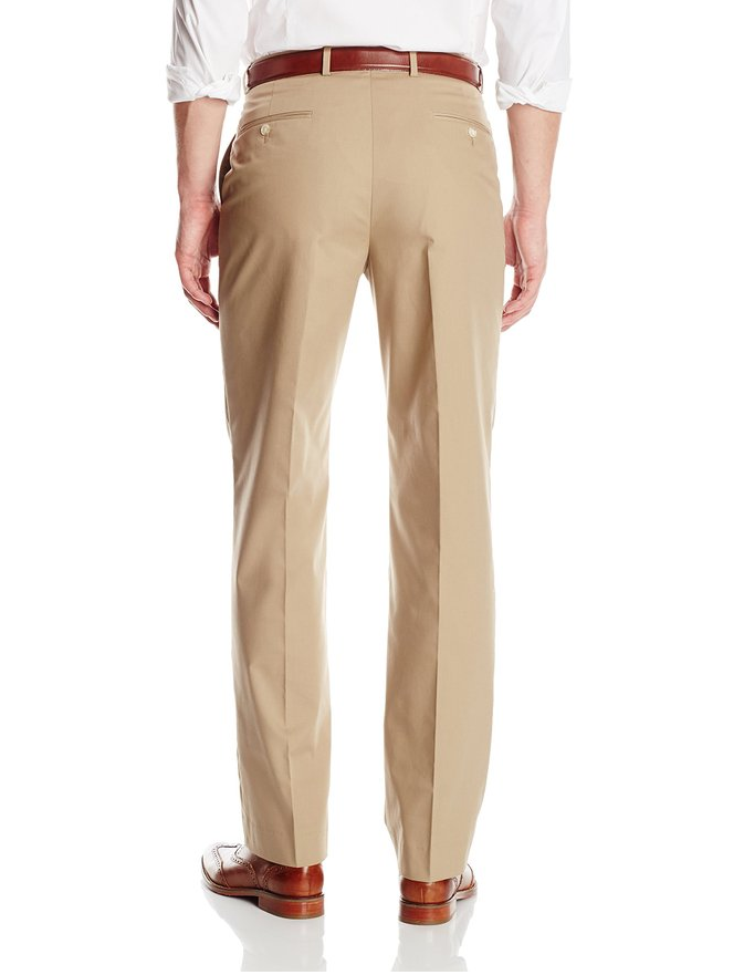 Palm Beach Oxford Khaki Poplin Suit Separate Flat Front Pant - Blue Lion Men's Apparel - 2