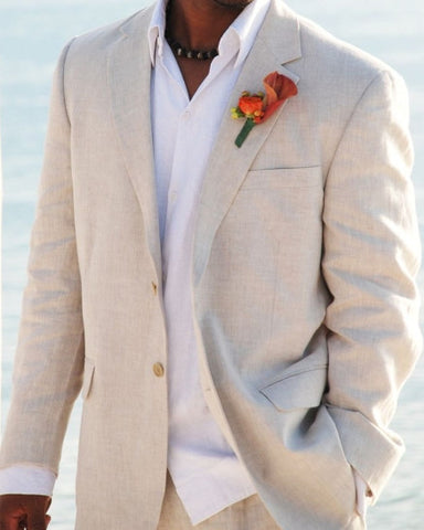Palm Beach Brock Natural Linen Suit Separate Jacket