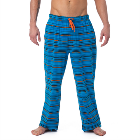 LOUNGE PANT WITH DRAW STRING - MIDNIGHT STRIATE