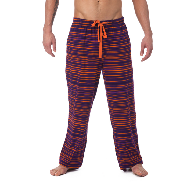 LOUNGE PANT WITH DRAW STRING - PURPLE STRIATE