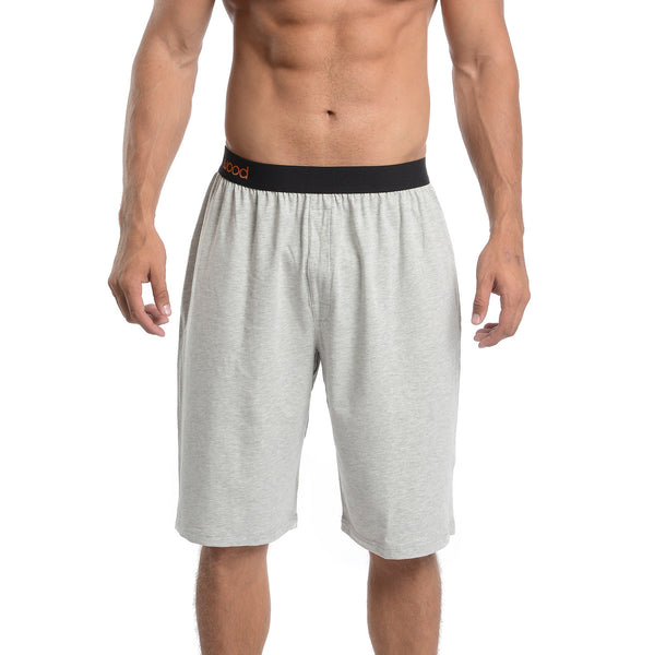 LOUNGE SHORT - GREY HEATHER