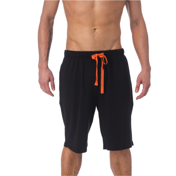 LOUNGE SHORT WITH DRAW STRING - BLACK