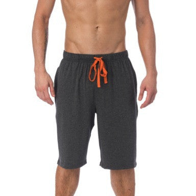 LOUNGE SHORT WITH DRAW STRING - CHARCOAL HEATHER
