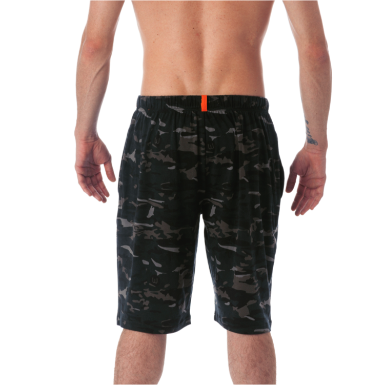 LOUNGE SHORT WITH DRAW STRING - FOREST CAMO