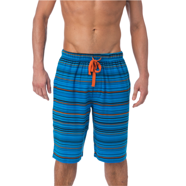 LOUNGE SHORT WITH DRAW STRING - MIDNIGHT STRIATE