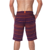 LOUNGE SHORT WITH DRAW STRING - PURPLE STRIATE