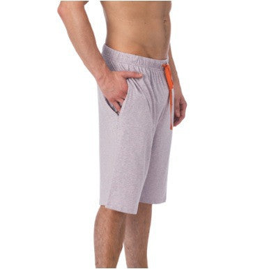 LOUNGE SHORT WITH DRAW STRING - VIOLET GREY HEATHER