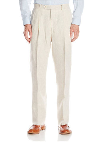 Palm Beach 'Original' Natural Linen Pleated Pant