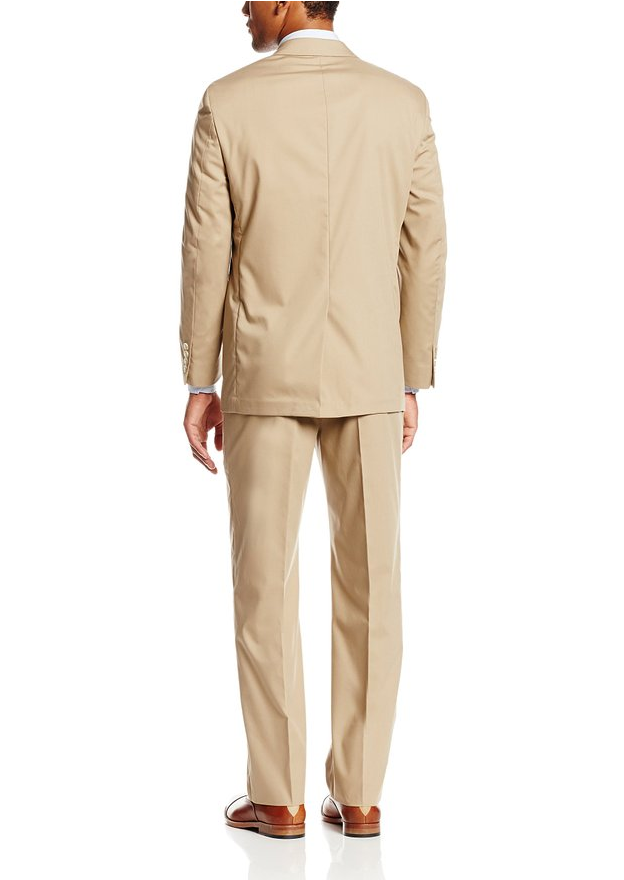 Palm Beach Boone Khaki Poplin Two-Button Center-Vent Suit - Blue Lion Men's Apparel - 2
