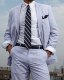 Palm Beach 'Original' Navy/White Seersucker Sport Coat - Blue Lion Men's Apparel - 1