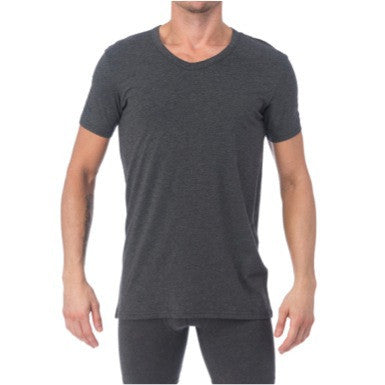 V-NECK - CHARCOAL HEATHER