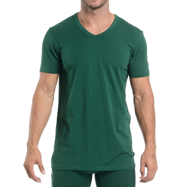 V-NECK - FOREST GREEN