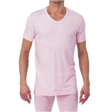 V-NECK - PINK HEATHER