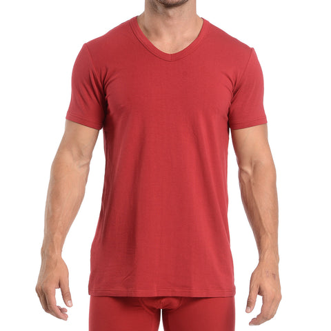 V-NECK - CRIMSON RED