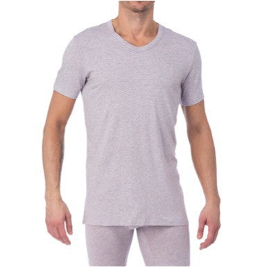 V-NECK - VIOLET GREY HEATHER