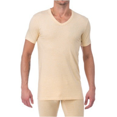V-NECK - STRAW YELLOW HEATHER