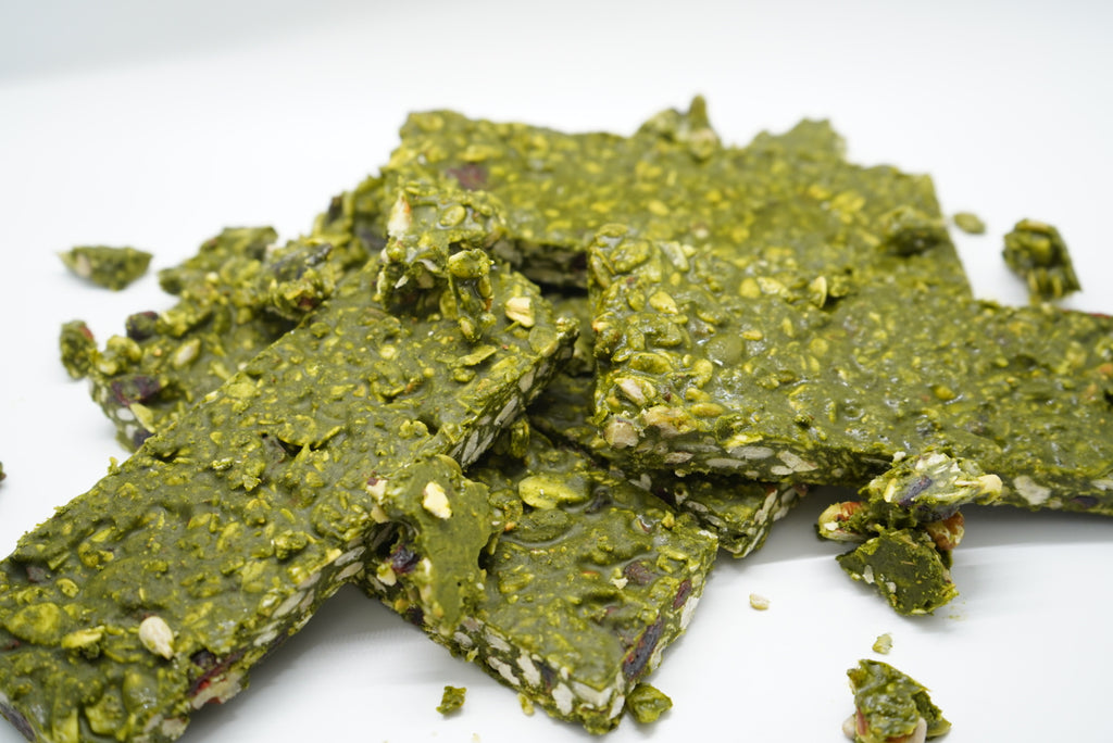 Gluten-Free Matcha Bars With Spinach Flour