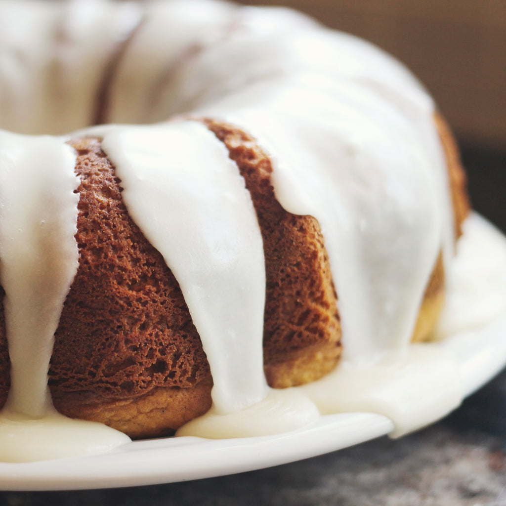 Yellow Split Pea Flour Bundt Cake with Lemon Icing - Soft and Buttery
