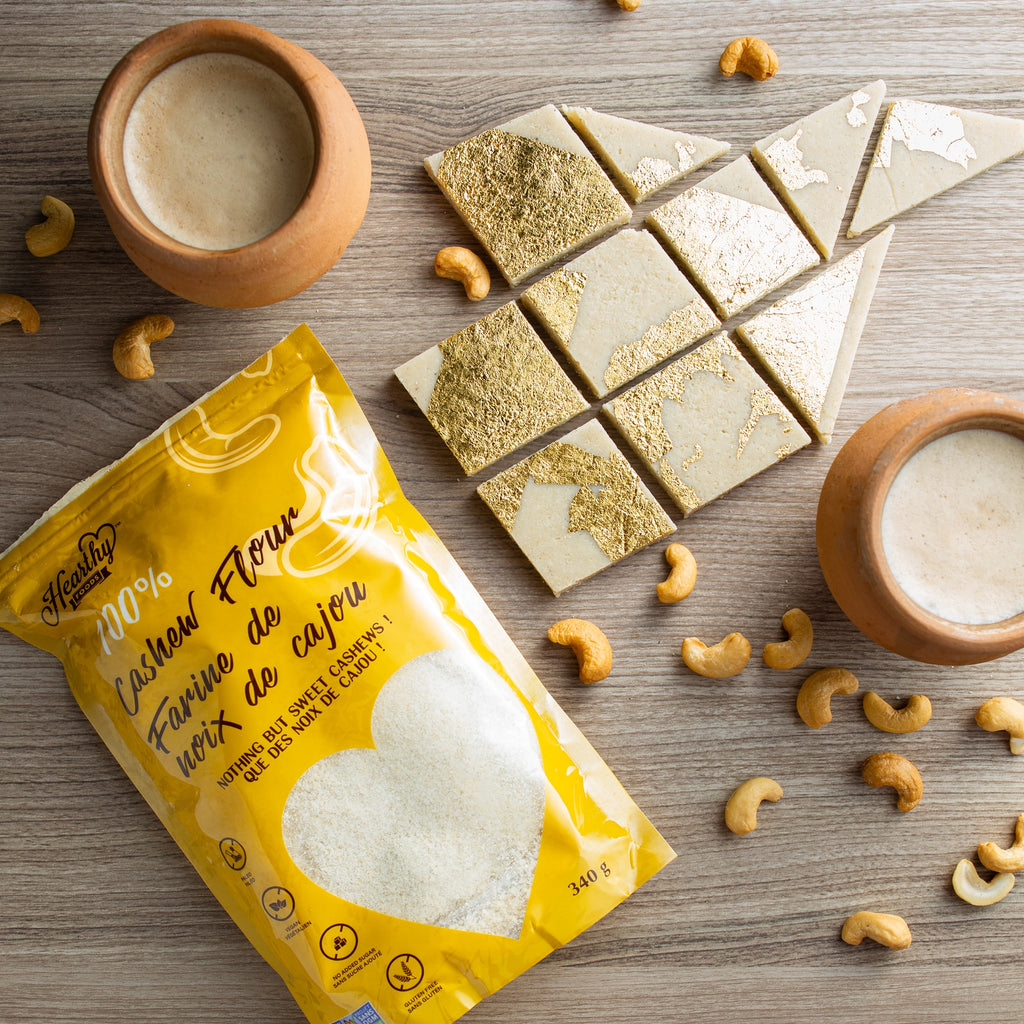 CASHEW BARS (KAJU KATLI) with CASHEW FLOUR. It's new and exciting!