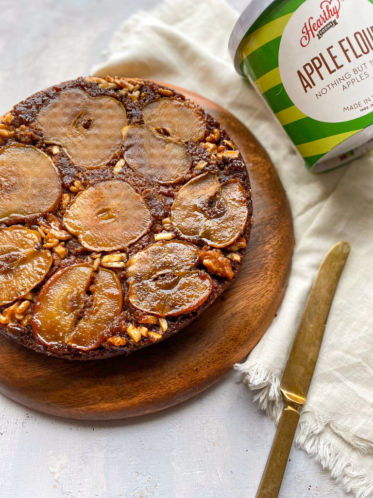 Sticky Apple Upside Down Cake Gluten-free and Dairy Free