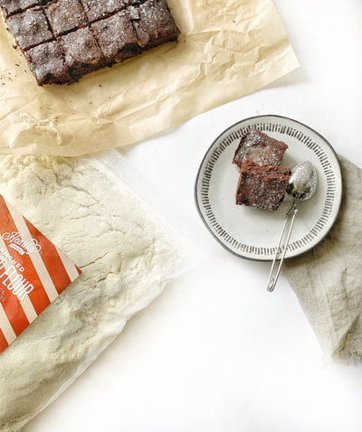 A delicious decadent brownie where you won't miss the gluten. Step-by-step recipe.