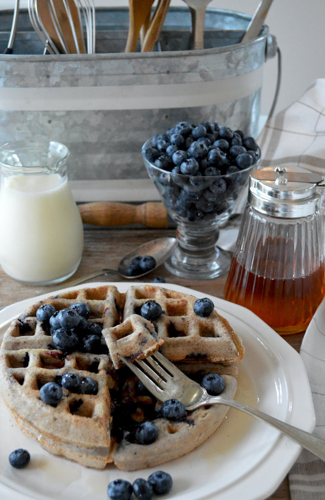 HEARTHY APPLE SWEET POTATO WAFFLES