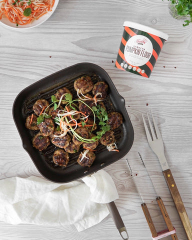 Japanese kabocha flour meatballs for fathers day