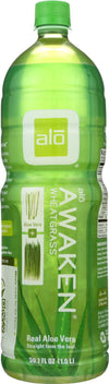 Alo Original Awaken Aloe Vera Juice Drink -  Wheatgrass - Case Of 6 - 50.7 Oz.