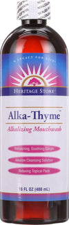 Heritage Store Alka Thyme Mouthwash - 16 Oz