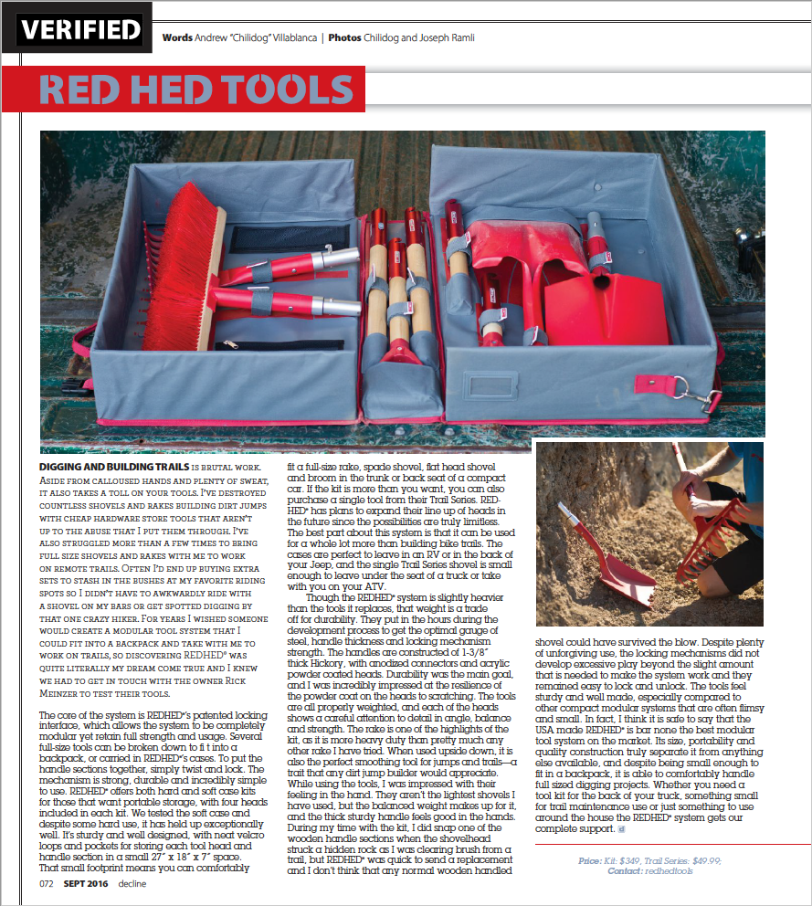 RedHed Tools Article