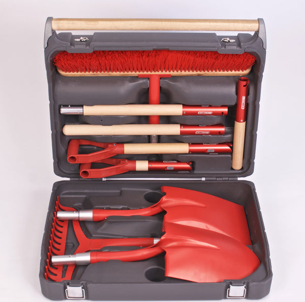 RedHed® Tools Garden Tool Master Kit - Hard Case - Heavy Duty Garden Shovel