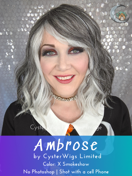 Ambrose by CysterWigs Limited Collection, Color: X Smokeshow (Extreme Graduate Grey)