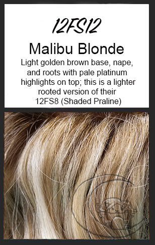 "Top Full 12"" Topper by Jon Renau, Color: 12FS12 (Malibu Blonde)"