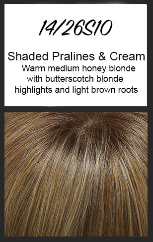 "Top Style 12"" Topper by Jon Renau, Color: 14/26S10 (Shaded Pralines & Cream)"