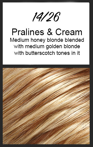 Allure Petite by Jon Renau, Color: 14/26 (Pralines & Cream)