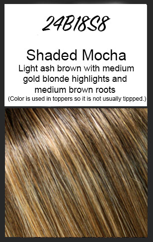 "easiPart HD XL 8"" by EasiHair, Color: 24B18S8 (Shaded Mocha)"